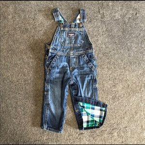 Oshkosh fleeced lined overalls